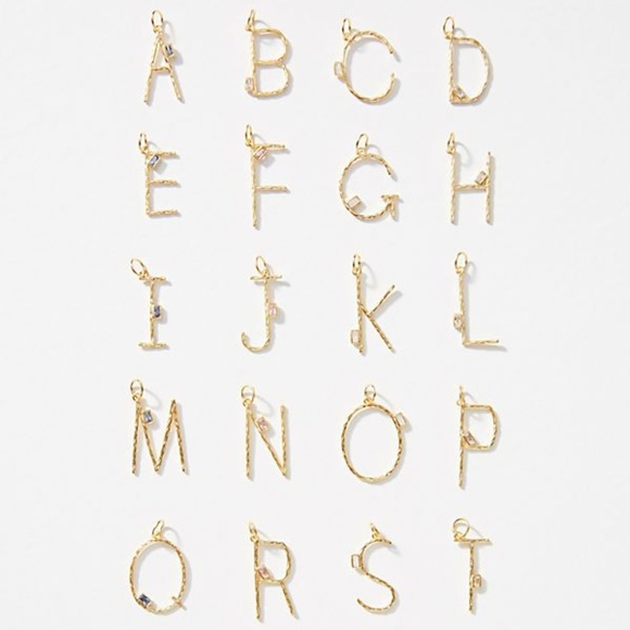 Anthropologie Jewelry - Anthropologie Monogram Letter Initial Charms